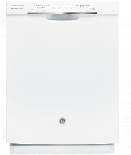 Gdf570sgjww Ge 24 Front Control Dishwasher With Stainless Steel Interior And Front Controls White