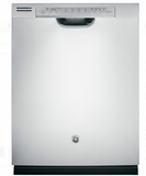 "GDF570SSJSS GE 24"" Front Control Dishwasher with Stainless Steel Interior and Front Controls - Stainless Steel"