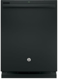 GDT635HGJBB GE Hybrid Stainless Steel Interior Dishwasher with Hidden Controls - Black