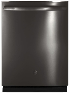 "GDT655SBLTS GE 24"" Fully Integrated Dishwasher with 16-Place Settings, 4 Wash Cycles and Piranha Hard Food Disposer - Black Stainless Steel"