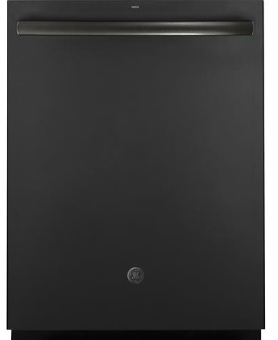 "GDT655SFLDS GE 24"" Fully Integrated Dishwasher with 16-Place Settings, 4 Wash Cycles and Piranha Hard Food Disposer - Black Slate"