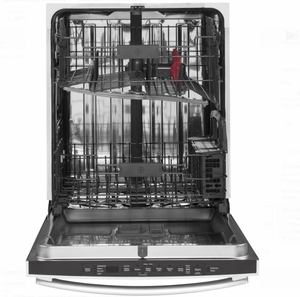 """GDT655SGJBB GE 24"""" Fully Integrated Dishwasher with 16-Place Settings, 4 Wash Cycles and Piranha Hard Food Disposer - Black"""
