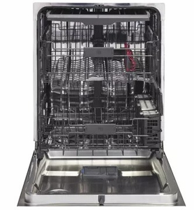 """GDT695SFLDS GE 24"""" Stainless Steel Interior Dishwasher with Piranha Food Disposer and Third Rack - Black Slate - CLEARANCE"""