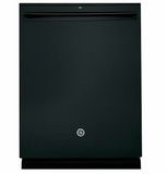 "GDT695SGJBB GE 24"" Stainless Steel Interior Dishwasher with Piranha Food Disposer and Third Rack - Black"