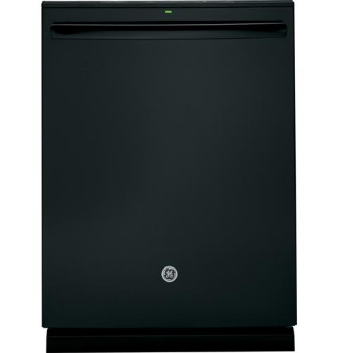 Gdt720sgfbb Ge Stainless Steel Interior Dishwasher With Hidden Controls Black