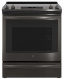 GE Electric Slide-in and Drop-in Ranges - BLACK STAINLESS STEEL