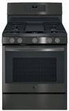 GE Freestanding Gas Ranges BLACK STAINLESS STEEL