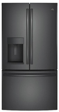 GE French Door Refrigerators - Black Stainless Steel