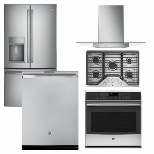 Package GEP4   GE Profile Appliance Package   5 Piece Appliance Package  With Gas Cooktop   Stainless Steel
