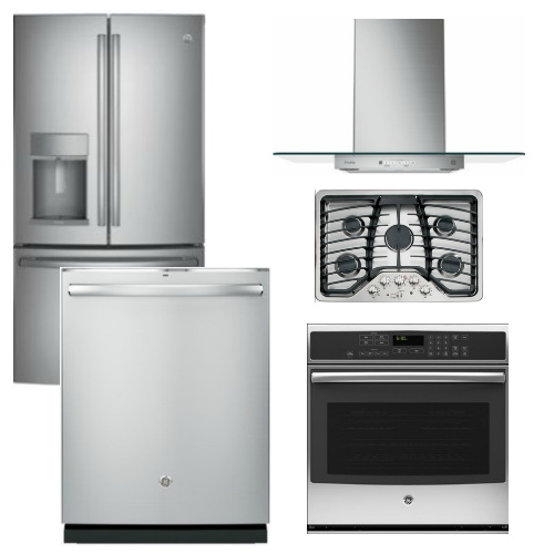 Package GEP4 - GE Profle Appliance Package - 5 Piece Appliance Package with Gas Cooktop - Stainless Steel