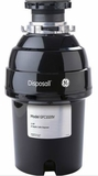 GFC1020V GE 1 Horsepower Continuous Feed Disposer - Black