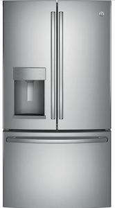 "GFD28GSLSS GE 36"" 27.8 Cu. Ft. French-Door Refrigerator with Door in Door and TwinChill Evaporators - Stainless Steel"