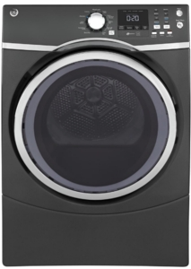 "GFD45ESPMDG GE 27"" 7.5 cu. ft. Front Load Electric Dryer with Steam Dewrinkle and Quick Dry - Gray"