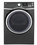 "GFD45GSPKDG 27"" GE 7.5 Cu. Ft. Capacity Gas Frontload Dryer with Sanitize Cycle and Quick Dry - Diamond Gray"