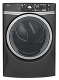 "GFD48GSPKDG 28"" GE 8.3 Cu. Ft. Capacity Front Load Gas Dryer with Sanitize Cycle and Steam Refresh - Diamond Gray"