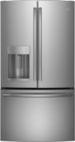 "GFE26GSKSS GE 36"" French-Door Bottom Freezer Refrigerator with Showcase LED Lighting - Stainless Steel"