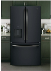 """GFE26JEMDS GE 36"""" 25.5 Cu. Ft. French-Door Refrigerator with LED Lighting and Full-Width Deli Drawer - Black Slate"""