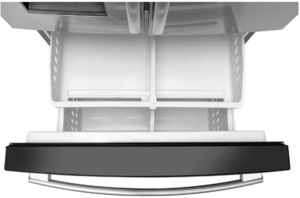 """GFE26JSMSS GE 36"""" 25.5 Cu. Ft. French-Door Refrigerator with LED Lighting and Full-Width Deli Drawer - Stainless Steel"""