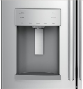 """GFE28GSKSS GE 36"""" 27.8 Cu. Ft. French-Door Bottom Freezer Refrigerator With Showcase LED Lighting - Stainless Steel"""