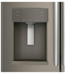 "GFE28HMKES GE 36"" 27.8 Cu. Ft. French-Door Refrigerator with Showcase LED lighting and TwinChill evaporators - Slate"