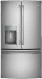 "GFE28HSKSS GE 36"" 27.8 Cu. Ft. French-Door Refrigerator with Showcase LED lighting and TwinChill evaporators - Stainless Steel"