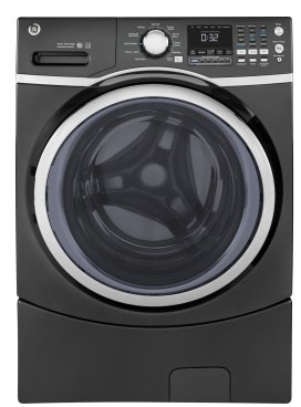 "GFW450SPKDG 27"" GE 4.5 Cu. Ft. Capacity Frontload Washer with Sanitize Cycle and Internal Water Heater - Diamond Gray"