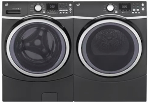 "GFW450SPMDG GE 27"" Front Load Washer with 10 Wash Cycles and 9 Wash Options - Diamond Gray"