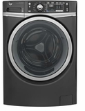 "GFW480SPKRR 28"" GE 4.9 DOE Cu. Ft. Capacity Front Load Washer with Precision Dispense and Steam Assist - Diamond Gray"