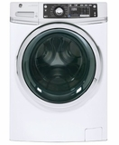 "GFW480SSKWW GE 28"" 4.9 DOE Cu. Ft. Capacity Front Load Washer with Precision Dispense and Steam Assist - White"