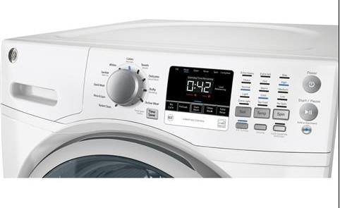 GFWN1600JWW GE 4.3 DOE Cu. Ft. Capacity Frontload Washer with Extended Tumble - White