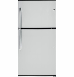 GIE21GSHSS GE ENERGY STAR 21.2 Cu. Ft. Top-Freezer Refrigerator - Stainless Steel