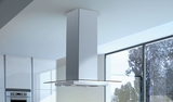 "GLASIS36SS600B Faber Decorative Collection 36"" Glassy Isola 600 CFM Island Range Hood - Stainless Steel"