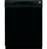 GLDA690FBB GE Tall Tub Built-In Dishwasher with Annealed Stainless Steel Interior - Black