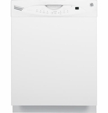 GLDA690FWW GE Tall Tub Built-In Dishwasher with Annealed Stainless Steel Interior - White