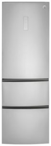 """GLE12HSLSS GE 24"""" 11.7 cu. ft. Counter Depth Bottom Freezer Refrigerator with Field Reversible Doors and Automatic Defrost - Stainless Steel"""