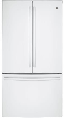gne29ggkww ge 36quot french door door 285 cu ft french With home general electric french door freestanding refrigerator gns23gmhes