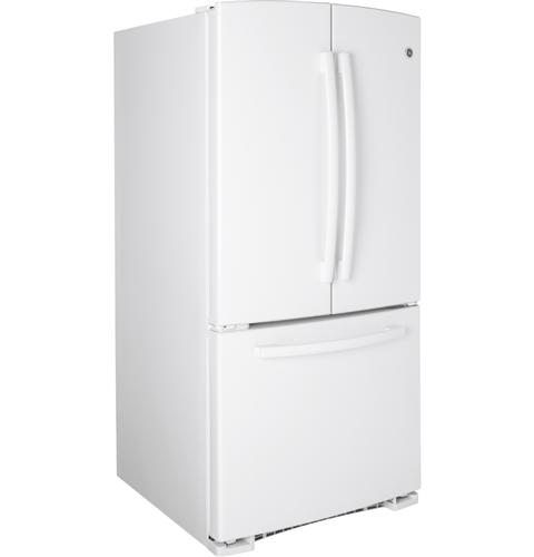 GNS22EGEWW GE 22.1 Cu. Ft. Bottom Freezer French Door Refrigerator with Icemaker - White