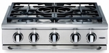 "GRT305L Capital 30"" Precision Series Lliquid Propane 4 Burner Cooktop and Wok Burner - Stainless Steel"