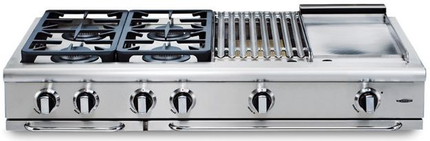 Grt486gl Capital 48 Precision Series Liquid Propane 6 Burner Cooktop And 12 Griddle Stainless Steel