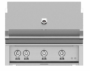 "GSBR36NG Hestan 36"" Natural Gas Built-In Grill with Warming Rack and Hot Surface Ignition - Stainless Steel"
