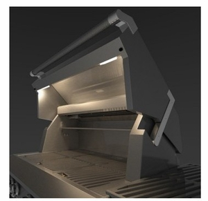 "GSBR36CX2LP Hestan 54"" Liquid Propane Deluxe Grill with Warming Rack and One Push Ignition - Stainless Steel"