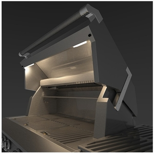 """GSBR42NG Hestan 42"""" Natural Gas Built-In Grill with Warming Rack and Hot Surface Ignition - Stainless Steel"""