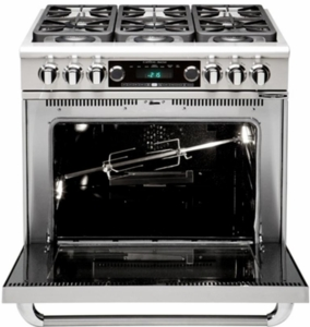 """GSCR366N Capital 36"""" Precision Pro Style Gas Convection Range 6 Burners- Natural Gas - Stainless Steel"""