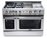 "GSCR484GN Capital 48"" Precision Pro Style Gas Convection Range 4 Burners & Wide Griddle - Natural Gas - Stainless Steel"