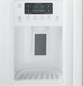 GSE25GGHWW GE Energy Star 25.4 Cu. Ft. Side-By-Side Refrigerator with Arctica Ice Maker - White