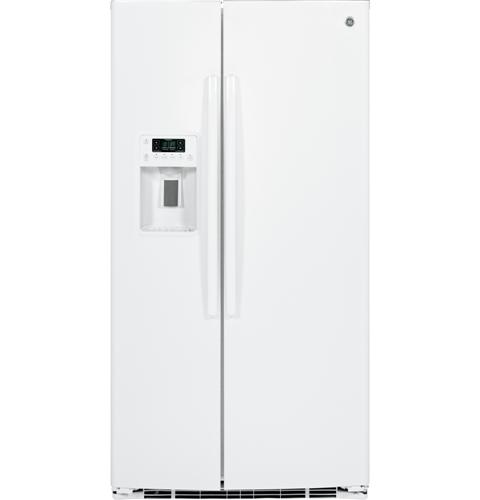 GSE25HGHWW GE Energy Star 25 4 Cu Ft Side By Side