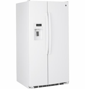 "GSS25GGHWW GE 25.4 Cu. Ft. Side-By-Side 36"" Wide Refrigerator with Artica Icemaker - White"