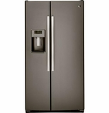 """GSS25GMHES GE 25.4 Cu. Ft. Side-By-Side 36"""" Wide Refrigerator with Artica Icemaker - Slate"""
