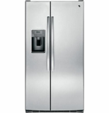 """GSS25GSHSS GE 25.4 Cu. Ft. Side-By-Side 36"""" Wide Refrigerator with Artica Icemaker - Stainless Steel"""