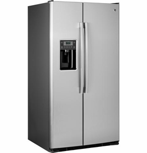"GSS25GSHSS GE 25.4 Cu. Ft. Side-By-Side 36"" Wide Refrigerator with Artica Icemaker - Stainless Steel"